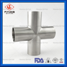 Sanitary Stainless Steel Polished Long Weld Cross