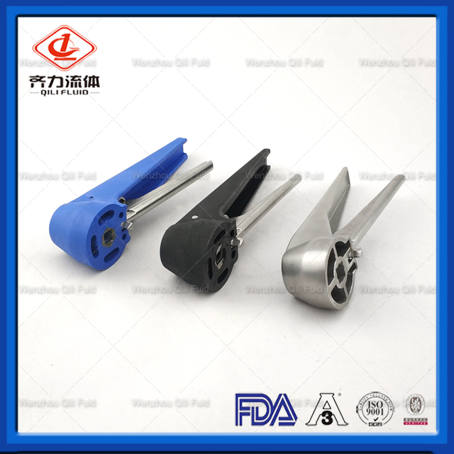 Hygienic Butterfly Valve Clamped End Notch Handle