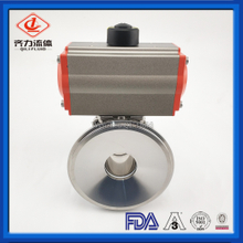 SS304 SS316L Stainless Steel Pneumatic Tank Bottom full bore Ball Valve