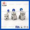 304L/316L Plastic/Stainless Steel Handle Muitl Position Weld End Butterfly Valves