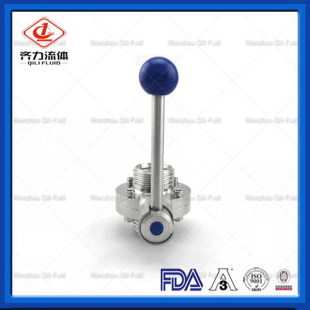 Sanitary Stainless Steel Threaded Butterfly Valve
