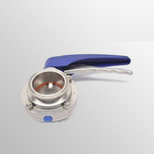 Sanitary Stainless Steel Tri Clover Compatible Butterfly Valve Squeeze Trigger