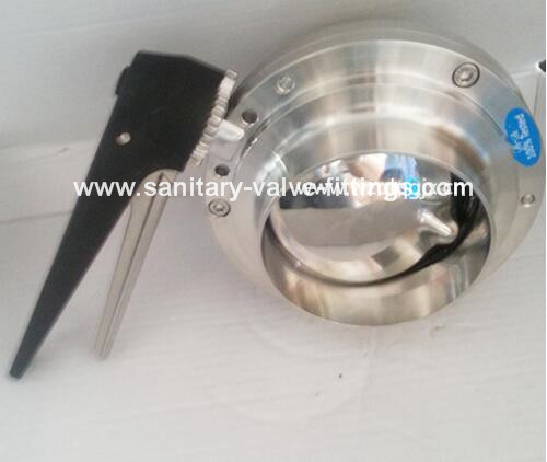 Sanitary Stainless Steel Rjt Weld Butterfly Valve