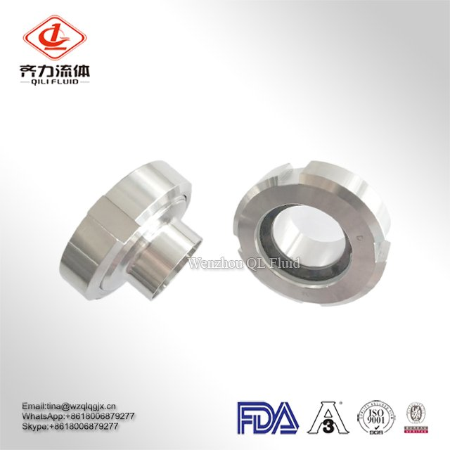 SS304 316L Fittings Sanitary Stainless Steel Union Sight Glass