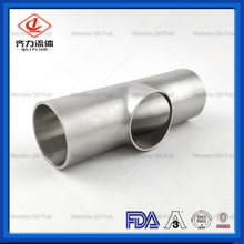 Sanitary Stainless Steel 304 316L Weld Plain Tee