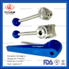 Sanitary Stainless Steel Butterfly Valves Gripper Handle