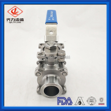 Manual Stainless Steel Sanitary Ball Valves adjust and control fluids end connection tri clamp,weld etc
