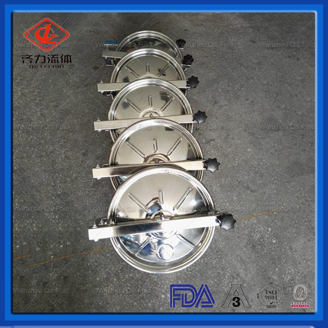 Sanitary Food Grade Manhole Cover In Stainless Steel Ss304 Or Ss316l