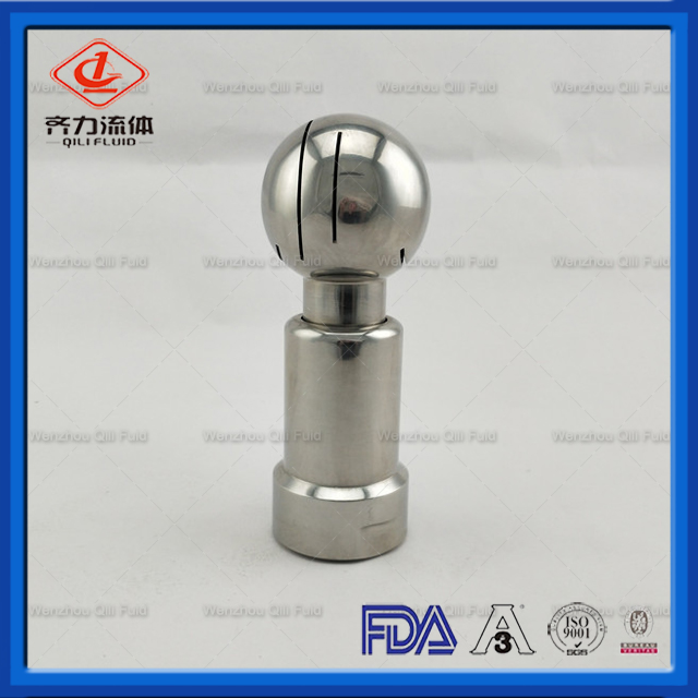 Food Grade Stainless Steel Santiary Thread Cleaning Ball Rotary Washing