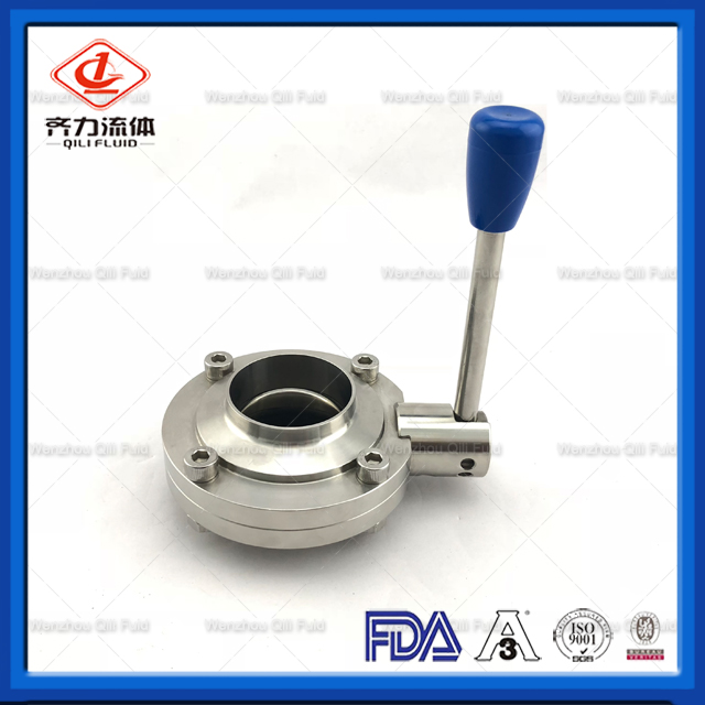Cheap Price Sanitary Stainless Butterfly Valve Butterfly Valve for Milk