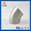 Sanitary Stainless Steel 304 316L Polished 45degree Weld Elbow