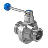 Sanitary Stainless Steel Threaded Butterfly Ball Valve
