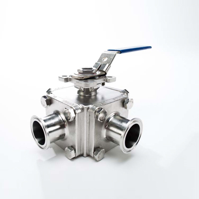 Sanitary Stainless Steel Three Way T Port Sanitary Ball Valve 4