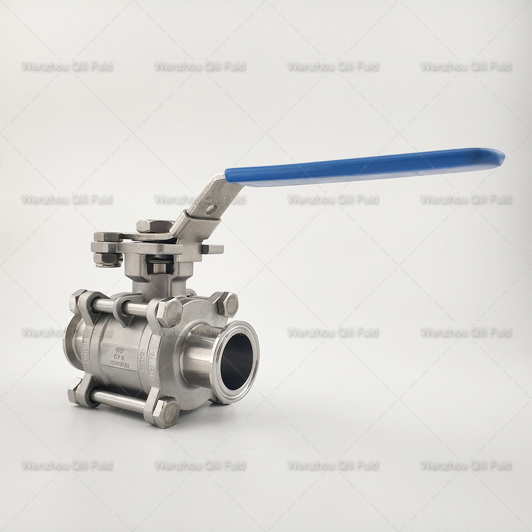 Large size 6 inch! Sanitary Encapsulated 3PCS Ball Valve Coming