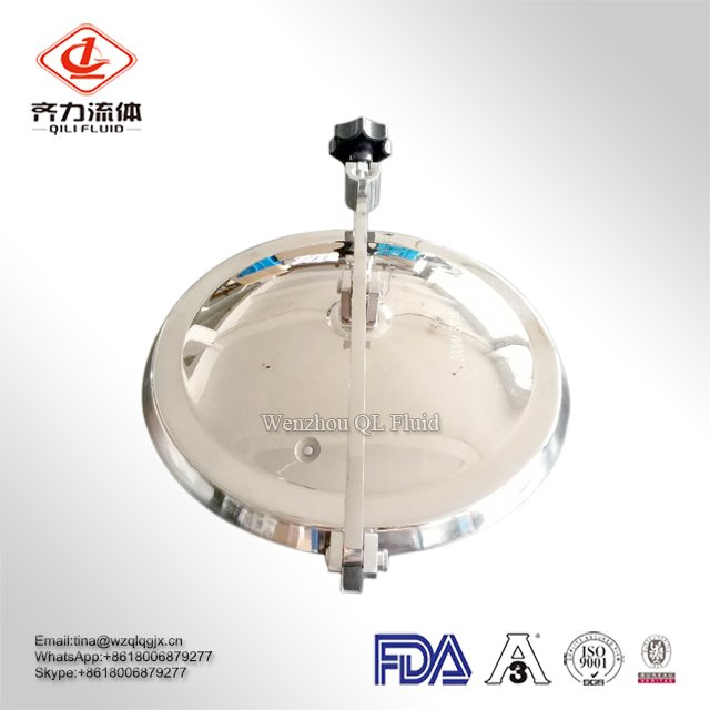 High Quality Manufacturer 304 and 316L Stainless Steel Sanitary Manhole Cover