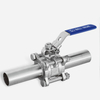 3PC Sanitary Long Butt Weld Ball Valve