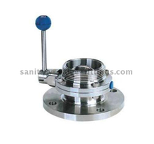 Stainless Steel One Side Threaded One Side Flange Manual Butterfly Valve
